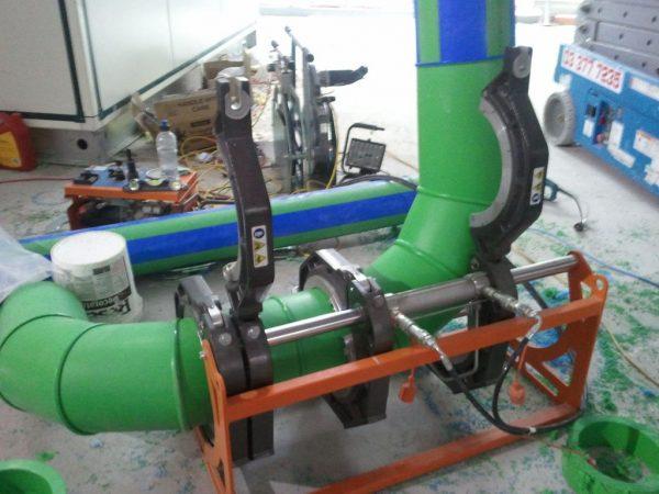 Preparing manifolds, Aquatherm support nationally